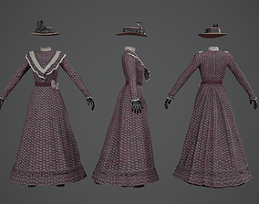 Dress Woman PBR GameReady 3D model