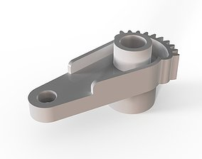 3D print model Black Heater Actuator Blend Cable Citroen 4