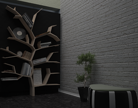 3D Tree Shaped Bookshelf