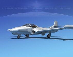 Cessna T-37 Tweetybird Bare Metal 3D