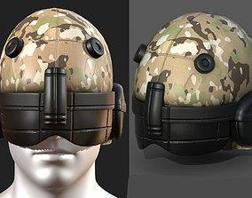 Helmet scifi fantasy futuristic military 3D model 1