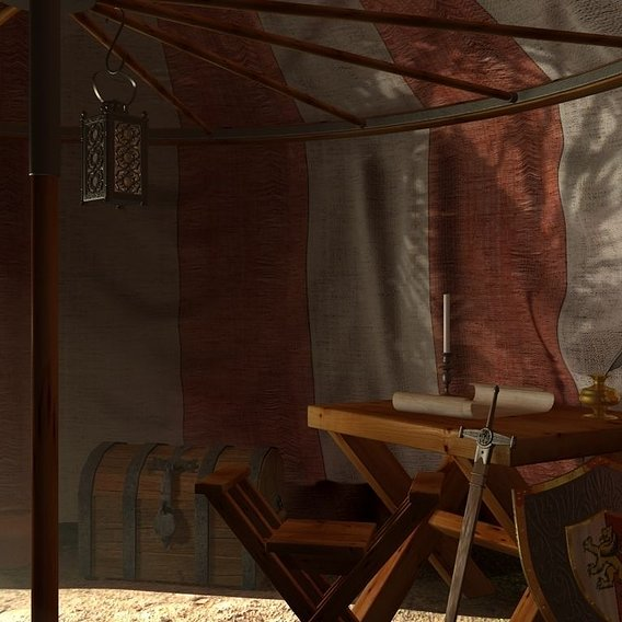 The Captain's tent