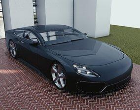 BLENDER EEVEE Brandless Sports GT coupe 3D model