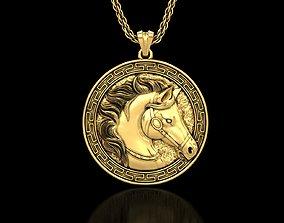 3D printable model The Royal Horse Head Medallion Pendant
