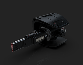 3D model Laser Cannon Design - Weapon for Turret