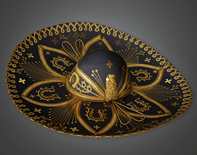 3D asset HAT - Mariachi Hat - PBR Game Ready