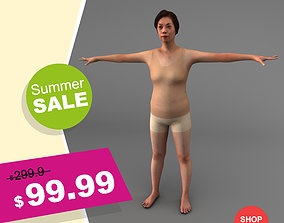 A Rigged Middle-aged Woman 3D model