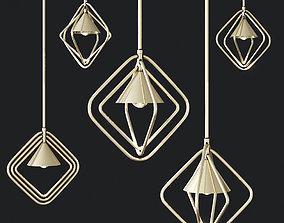 3D Porustudio PORTMAN Hanging lamp