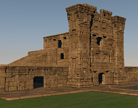 Pre-Columbian architectural complex 3D model