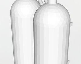 3D printable model Dual nitrous cans