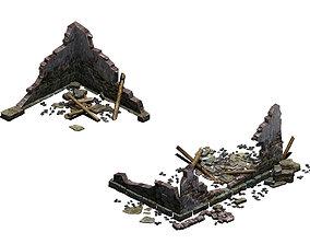 Building - ruins 004 3D
