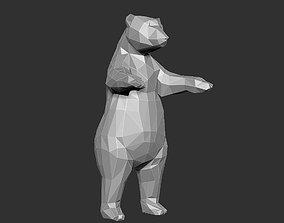 Bear Grizzly low Polygon 3D printable model