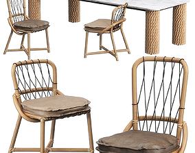 Manao chairs Nevada table by Baxter 3D model