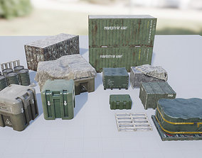 Military Containers and Crates Pack 3D model