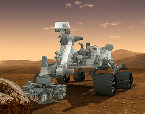 Mars Curiosity Rover free 3D model