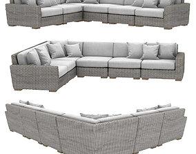 Restoration hardware BIARRITZ MODULAR L-SECTIONAL sofa 3D