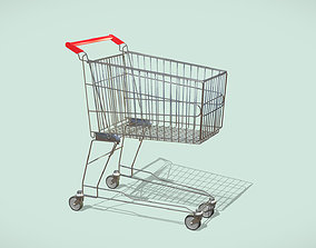 3D Supermarket Shopping Cart