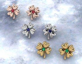 Clover Women earrings 3D printable model