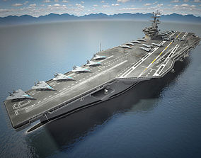 3D USS Ronald Reagan CVN76 Carrier