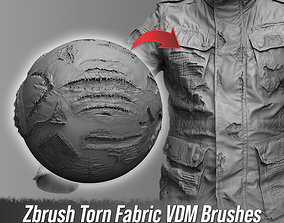 3D Zbrush Torn Fabric VDM Brushes