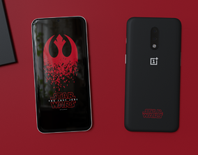 OnePlus 7 Star Wars Special Edition Black Red White 3D