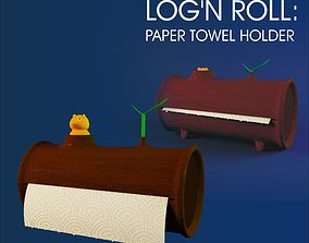 3D Logn Roll - paper towel holder