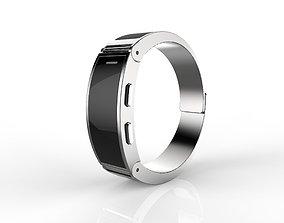 Metal smart watch 3d model design