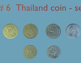 3D Thailand coin - set model - 6