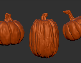 Pumpkin Trio 3D model