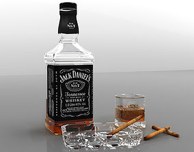 Whiskey pack 3D model