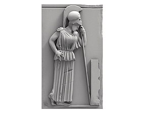 3D printable model Mourning Athena bas-relief