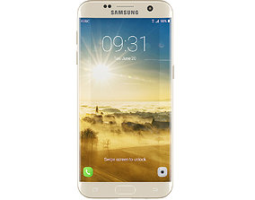 3D Galaxy S7 Gold