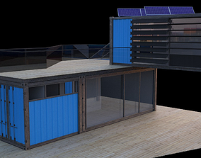 3D model small container home