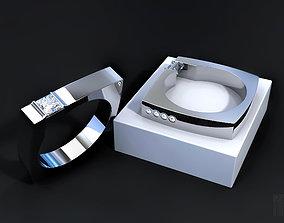3D printable model designer diamond ring rings