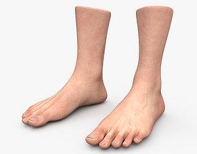 3D model Male Foot