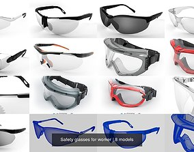 3D model vision Safety glasses for worker