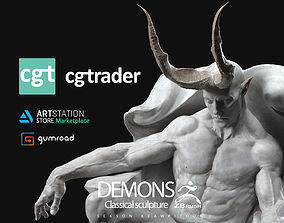 DEMONS - Classical sculpture 3D print model