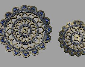 Diamond lace pendant 3D printable model