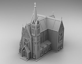 Gothic style church 3D printable model