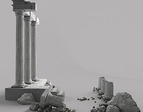 architecture 3D Damaged Pillars