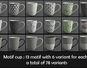 3D model motif cup