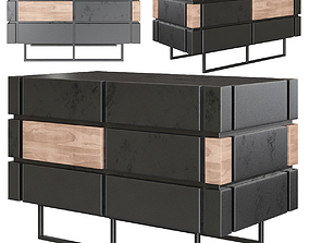 Minotti sideboard low poly 3d model realtime