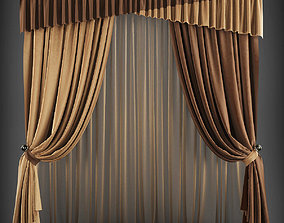 Curtain 3D model 175 realtime