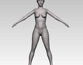 3D asset Female Basemesh