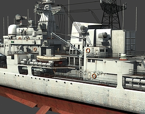 the Sovremenny-class Missile destroyer of Chinese 3D model
