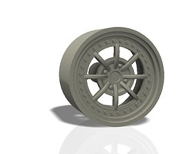 wheel 8 spokes rim - llanta 3D printable model