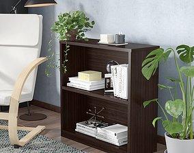 Wenge Bernal Standard Bookcase 3D