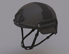 Ops Core Sentry mid cut military helmet black 3D