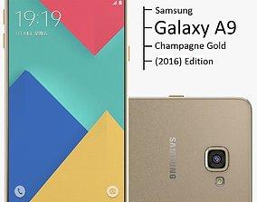 3D Samsung Galaxy A9 2016 Champagne Gold