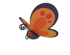 3D Cartoon butterfly
